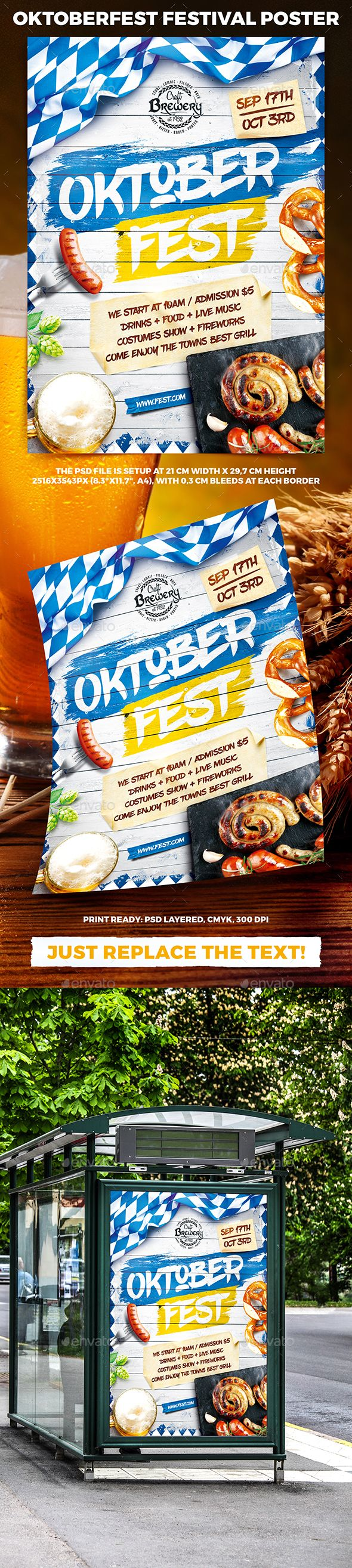 Oktoberfest Festival Poster Template PSD. Download here: https://graphicriver.net/item/oktoberfest-festival-poster-vol5/17342119?ref=ksioks