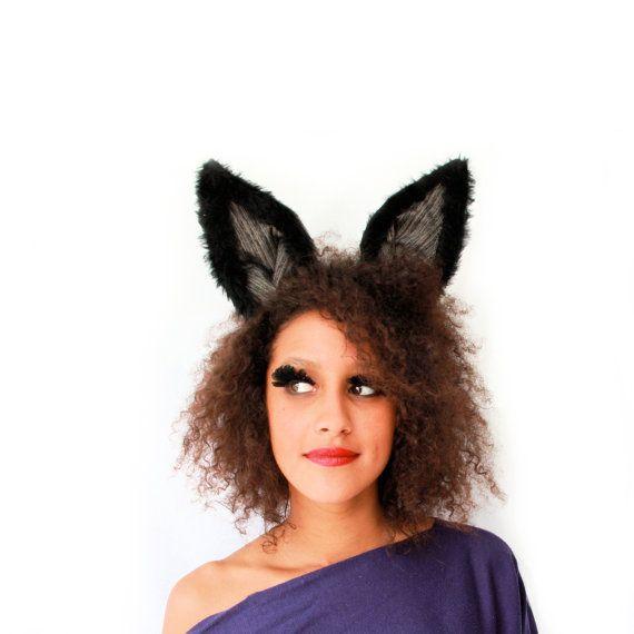 Black Bunny - luxury bendeable bunny ears