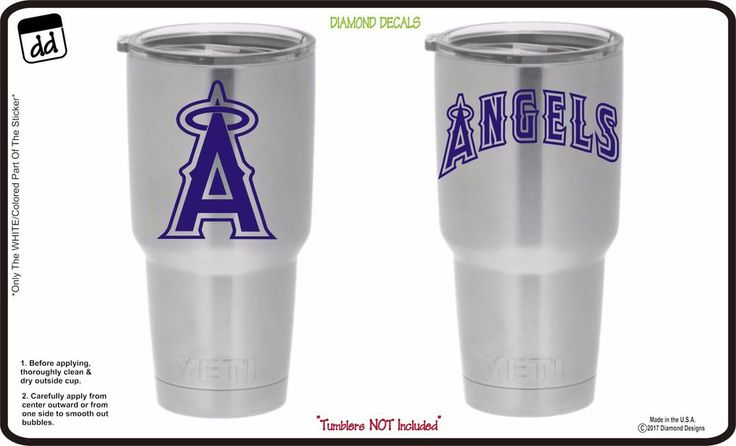 Anaheim Angels (Set of 2) Vinyl Decals for Yeti Tumblers Vinyl MLB Baseball NEW #DiamondDecals