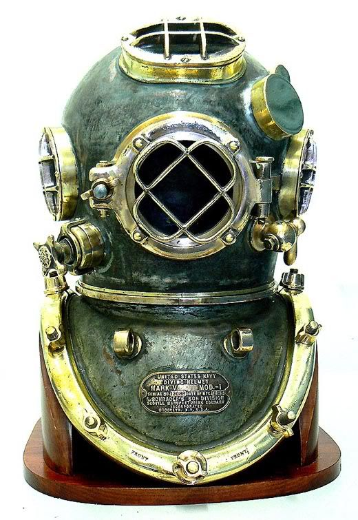 1943 Schrader US Navy Diving Helmet