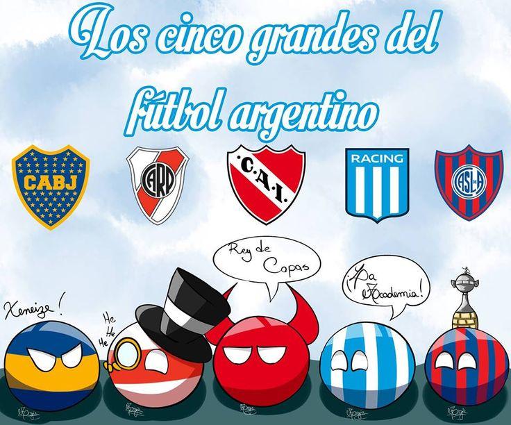 Los 5 Grande De Argentina  Boca, River, Independiente , Racing,San Lorenzo