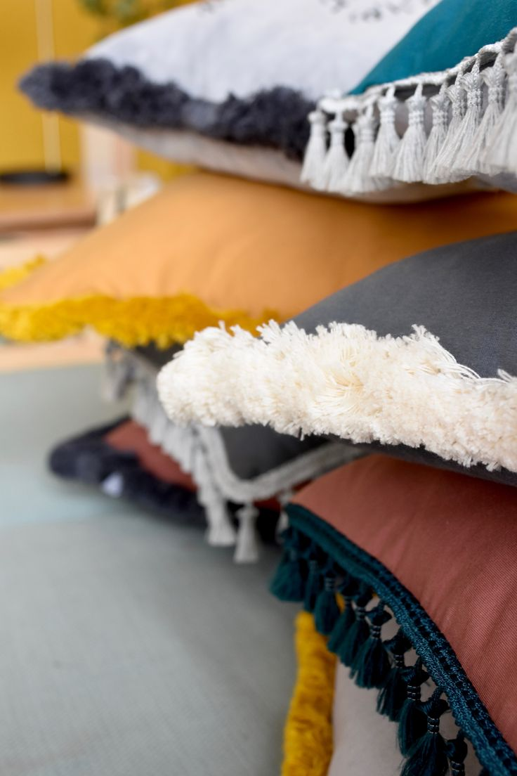 Fringes and tassels pillow cases by NUKI