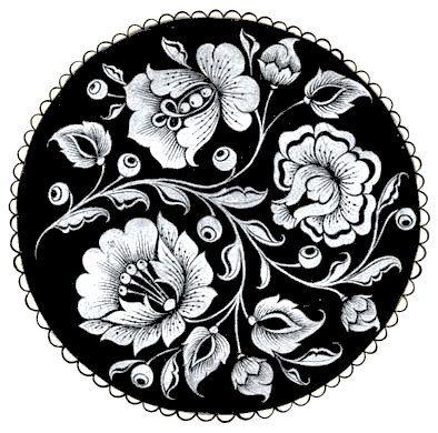 жостовская роспись черно белые картинки для садовых качелей