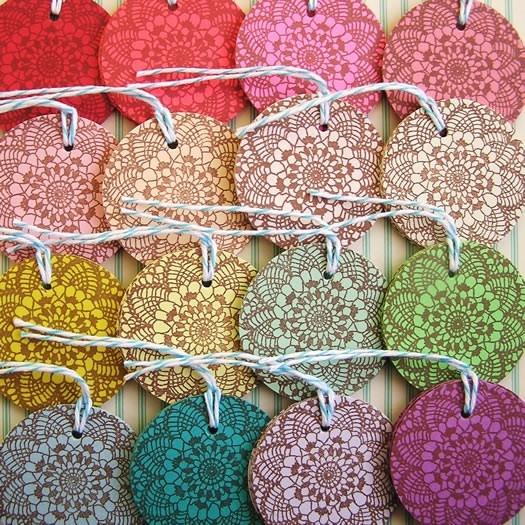Tags - they look like doilies! :)