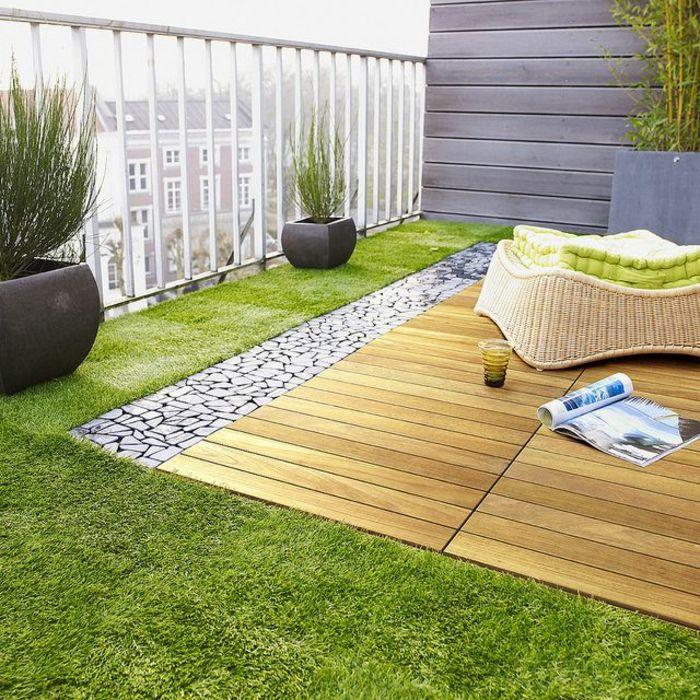 bepflanzung  dachterrasse grass polyrattan sessel