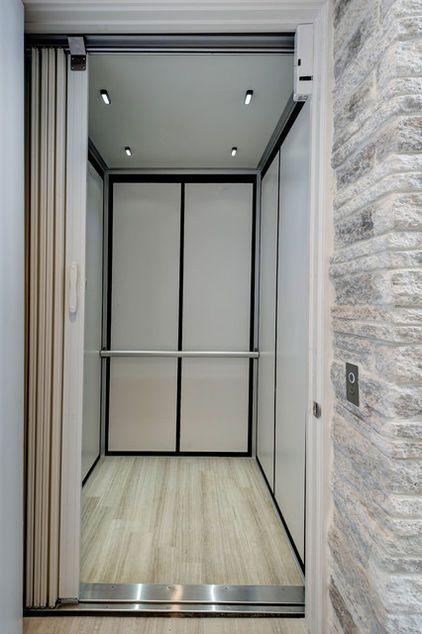 Modern elevator design with simple shapes and elegant for Modern elevator design