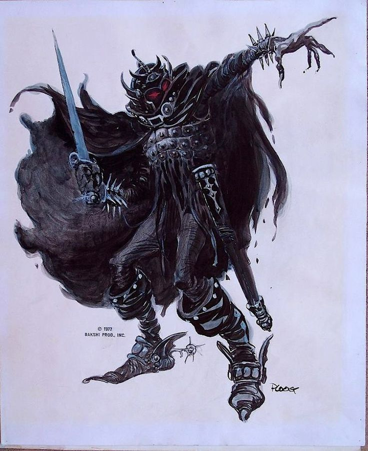 Lord Of The Rings Nazgul Concept Art By Mike Ploog: Ralph Bakshi's Nazgul Ring-Wraith From LORD Of The RINGS