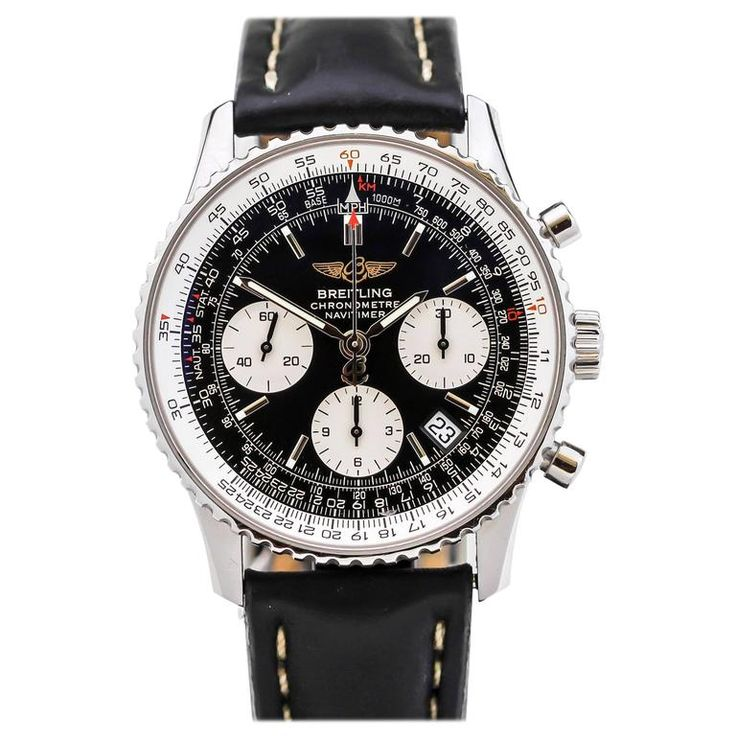 Breitling Stainless Steel Navitimer Ref A23322 Wristwatch  | From a unique collection of vintage wrist watches at https://www.1stdibs.com/jewelry/watches/wrist-watches/