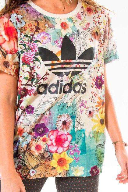Camiseta Adidas Farm Confete Trefoil Babadotop AJ8139 - BabadoTop