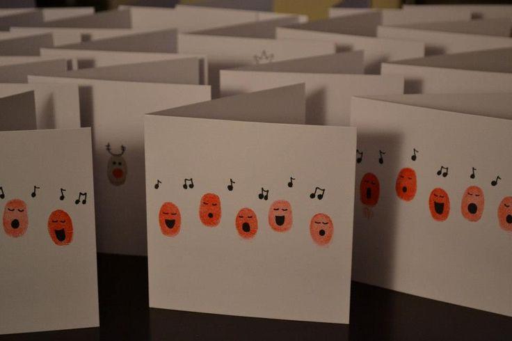 Christmas Cards : Fingerprinting : by Hannah Ballyn