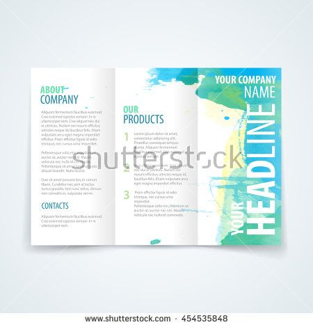 32 best Tri-fold brochure design images on Pinterest Vector - free printable tri fold brochure templates
