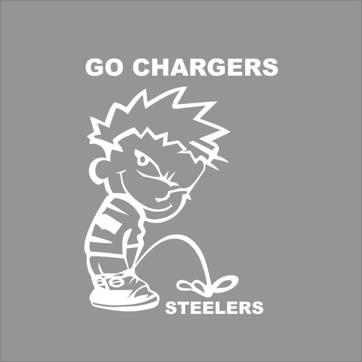 Go Chargers Boy Peeing On Steelers Nfl Team Wall Car Window Vinyl Decal Sticker