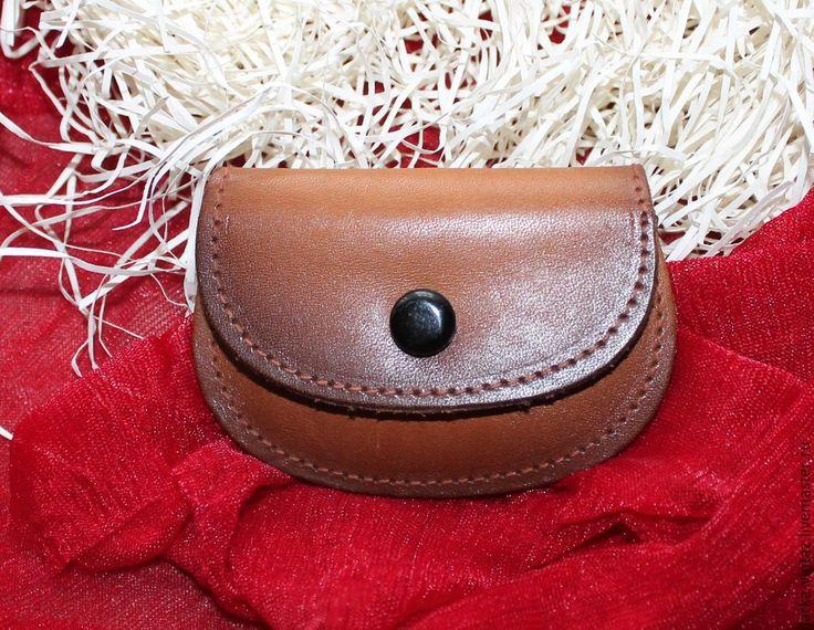 Купить Кошелек из натуральной кожи Мини-сумочка - коричневый, кошелек из кожи, кошелек кожаный