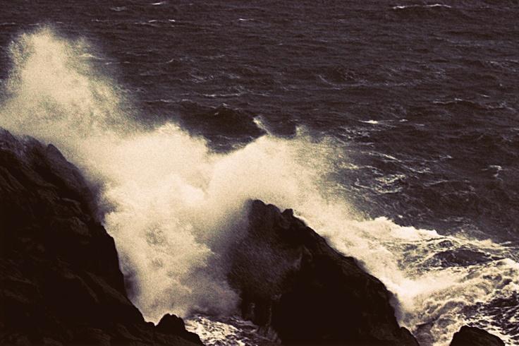 The Tasmanian coastline... I was so close it was just a little intimidating. :)
