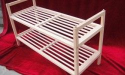the new style pine wood tiers shoe rack