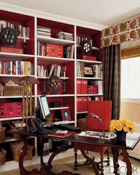 /: Desks Area, Bookshelves, Decor Ideas, Elle Decor, Built In, Books Shelves, Alessandra Branca, Home Offices, Design Style