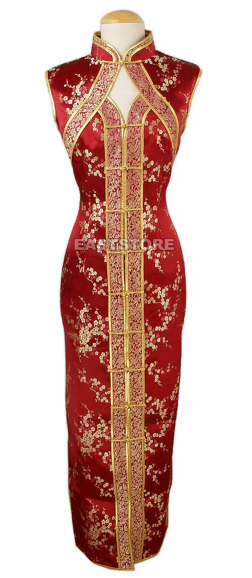 Chinese Brocade Dress-Chic Chinese Pattern Brocade Dress