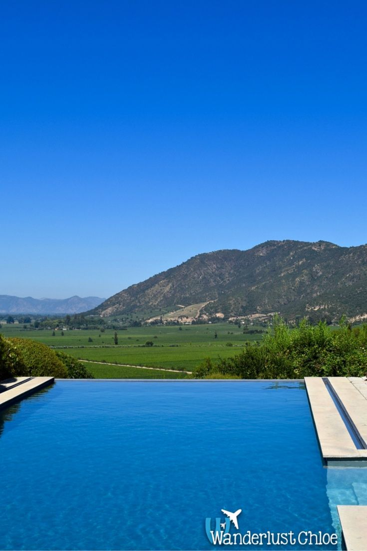 Stunning infinity pool at Lapostolle Residence, Colchagua Valley, Chile Some of the best places to go wine tasting in Chile, are in the Colchagua Valley. I headed to top winery Lapostolle, for a special lunch and wine tasting. http://www.wanderlustchloe.com/2016/05/top-places-to-go-wine-tasting-in-the-colchagua-valley-lapostolle.html