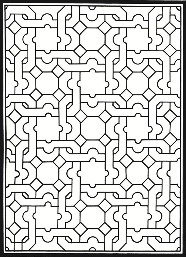 Welcome To Dover Publications Creative Haven Geometric Genius Stained Glass Coloring Book Pattern
