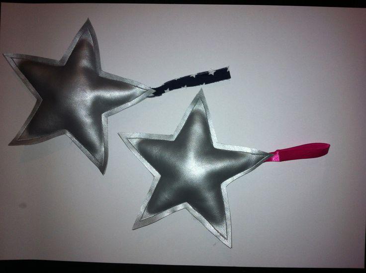 Zilveren Ster kasthangers !!  Leuk voor de baby-kinderkamer !! www.lappenpoppen.com