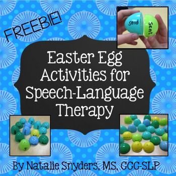 FREE Easter egg therapy activities for most of your elementary caseload!  Perfect for mixed groups and varied age levels.