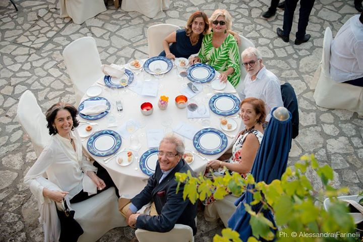 poolside dinner at caesar Augustus