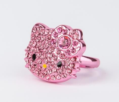 Hello Kitty Die-Cut Ring: Pink Gold