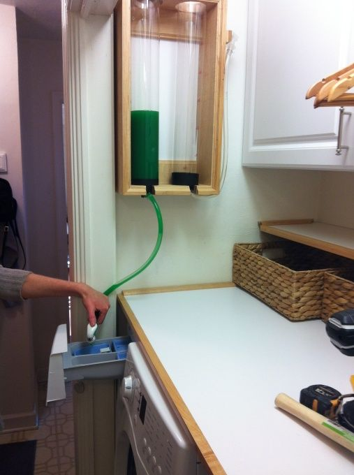 Custom laundry detergent dispenser for front loading washer - perfect!
