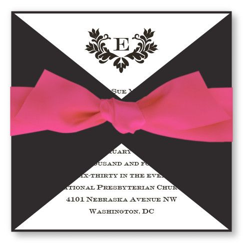 Wedding Invitations - Stylish Wedding Invitations-Available in 4 Colors! - The American Wedding | The American Wedding