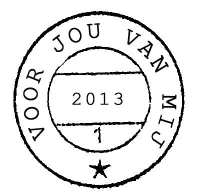 "Free printable ""voor jou van mij - 2013"" (for you from me -2013."