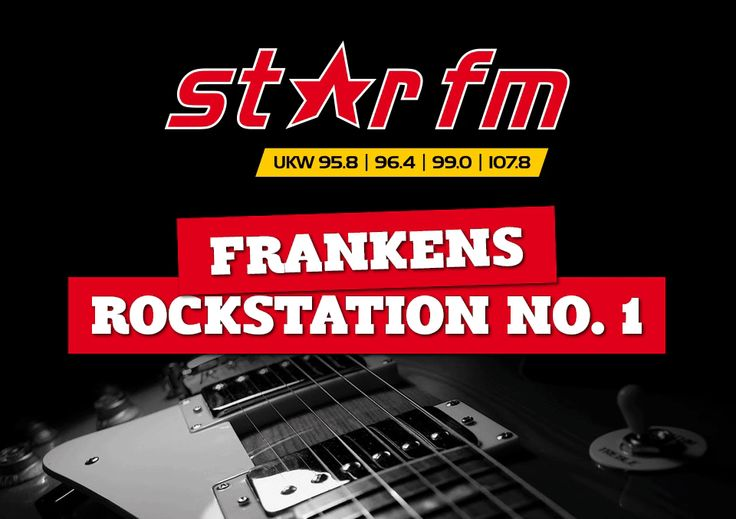 (18) STAR FM * Sendegebiet: Nürnberg (Kanal 10C) * Format: Rock * Motto: STAR FM MAXIMUM ROCK ist der Radiosender für alle, die handgemachte Musik und Gitarren lieben. Deutschlands Rock Network Nr. 1 bietet das Beste aus Pop Rock, Modern Rock, Alternative und Classic Rock – und damit die meiste Vielfalt im Rock-Segment, egal ob über UKW, digital per App oder Web.