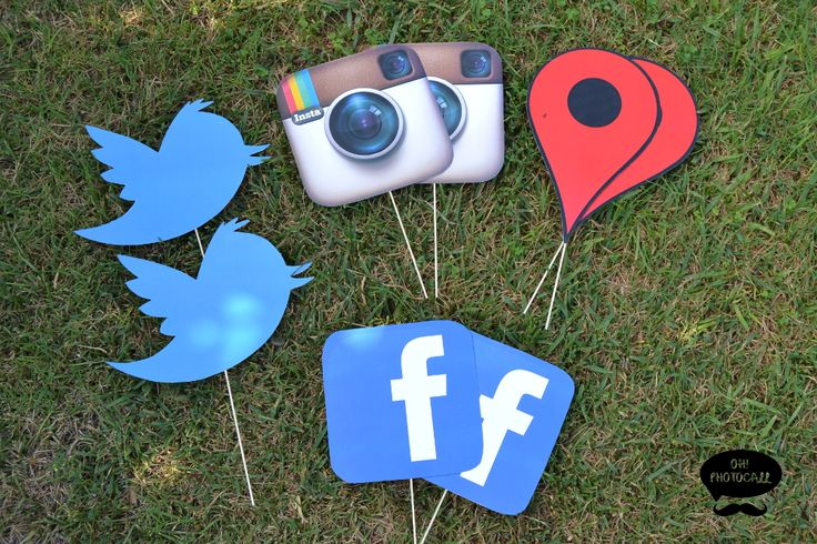 Atrezzo Redes Sociales Facebook Twitter Instagram Props photocall / photobooth