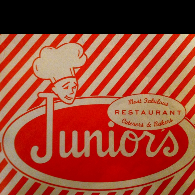 Junior's Cheesecake in NYC is the BEST!  Corner of 45th and 7th great breakfast until 10:45. Scrabbled eggs, eggs Benedict and French toast. Don't recommend onion rings. Burgers and wings are yummy.