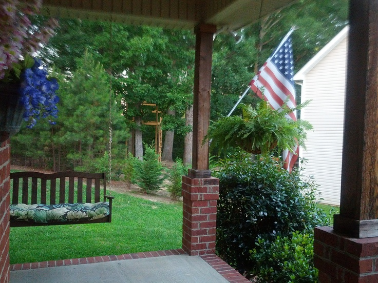 All American Porch Swing Old southern homes, Southern