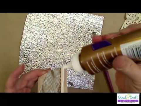 video tutorial on creating a forged metal look with aluminum foil #crafts #techniques