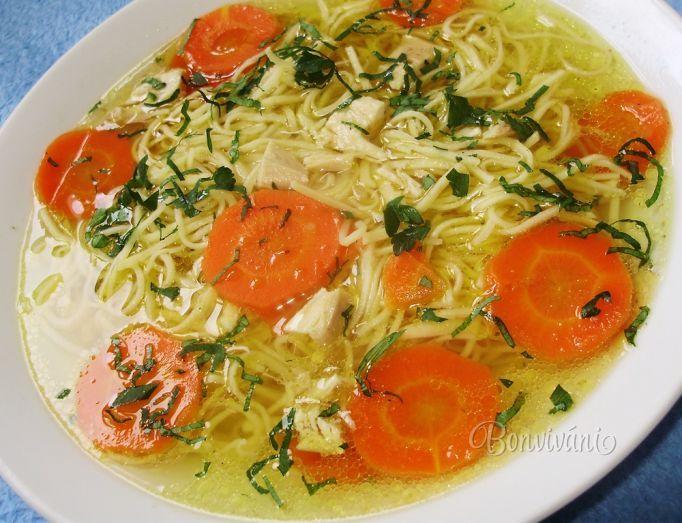 Slepačia polievka so slížami • recept • bonvivani.sk