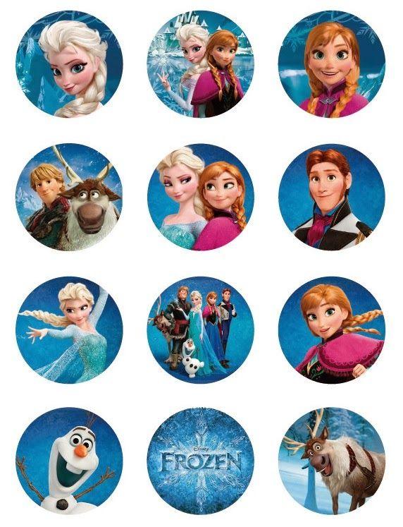 Frozen: Toppers para Imprimir Gratis. | Ideas y material gratis para fiestas y…
