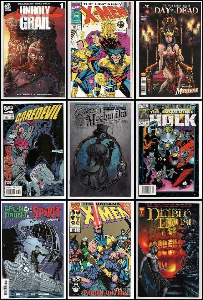 New for July 10th at imaginethatcomics.com http://stores.ebay.com/imaginethatcomics https://www.hipcomic.com/store/imagine-that-comics • New Release Comics - Sacred Creatures #1, GFT Day of the Dead #6, Gwar Orgasmageddon #2, Green Hornet '66 meets The Spirit #1, Belladonna Annual 2017, Doc Savage Ring of Fire #4, James Bond Black Box #5, Rat Queens Vol 2 #4, Predator Hunters #3, Justice Inc The Avenger #1, Assassins Creed Uprising #5, My Little Pony Legends of Magic #4, Lady Mechanika…