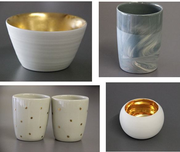 gold and marble ceramics meilen collaborative