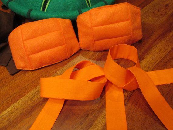 Teenage Mutant Ninja Turtle Arm Ties & Knee Pads by madglamapparel