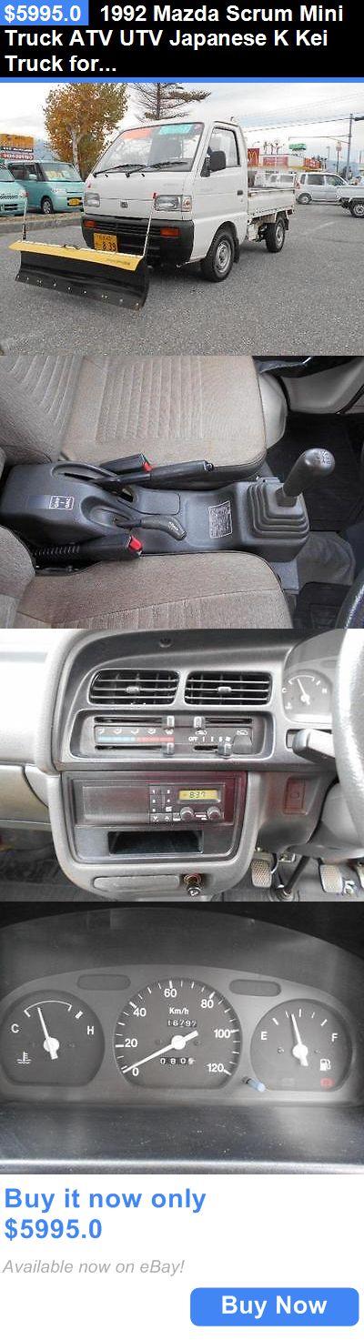 Power Sports ATVs UTVs: 1992 Mazda Scrum Mini Truck Atv Utv Japanese K Kei Truck For Snow Plow Removal BUY IT NOW ONLY: $5995.0