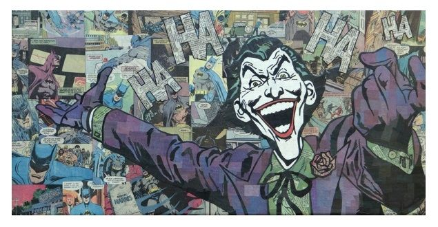 'The Joker' collage by Mike Alcantara.