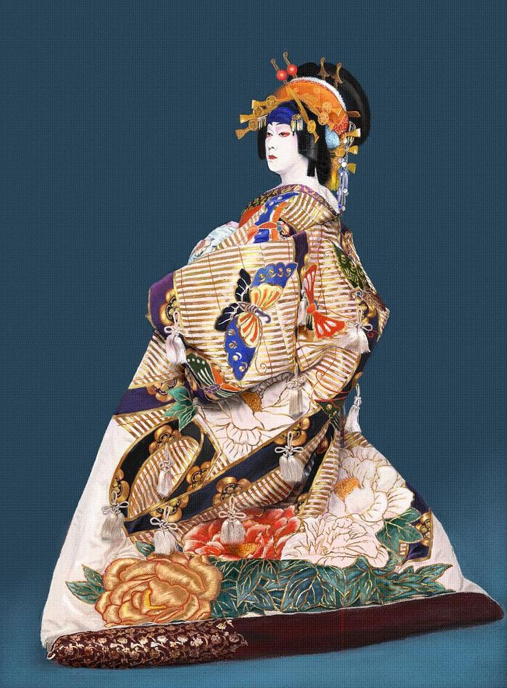 Japan's National Living Treasure, Kabuki Actor  Bando Tamasaburo. Tamasaburo is an Onnagata, a Kabuki actor who specializes in women's roles.