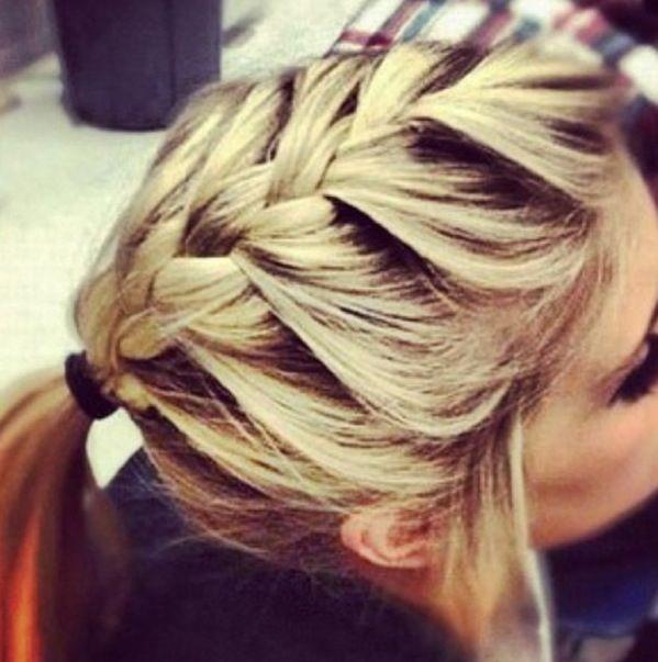 Cute! French braided ponytail. Love. | Hair♡ | Pinterest ...