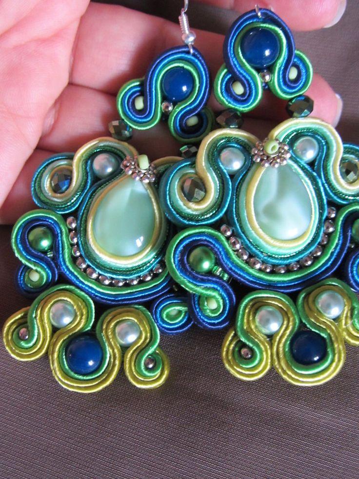 #orecchini pendenti soutache eleganti e colorati fatti a mano, by elesoutache, 55,00€ su #misshobby.com