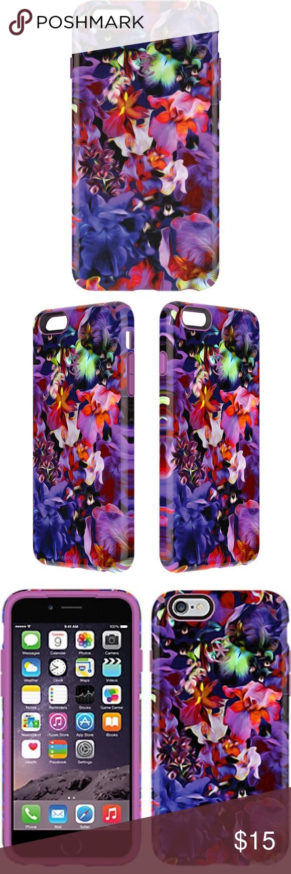Floral IPHONE 6S PLUS AND IPHONE 6 PLUS CASE High-res graphics wrapped around a sleek, military-grade protective phone case, slight marks on floral side that cannot be seen straight on Speck Accessories Phone Cases