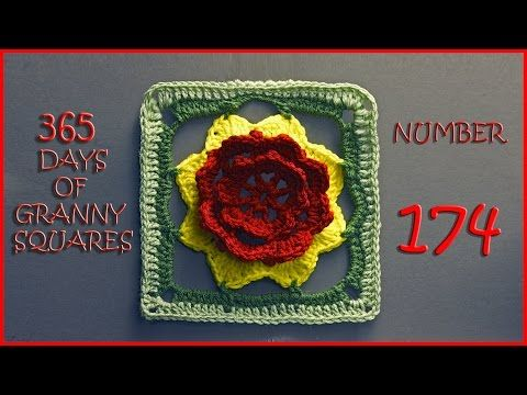 365 Days of Granny Squares Number 173 - YouTube