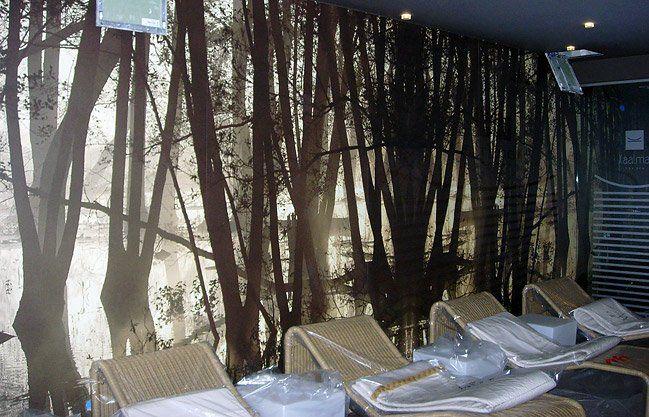 """Decorazioni pareti con vinile """"wall"""": in una elegante Spa tutta l'atmosfera per rilassarsi al meglio"""