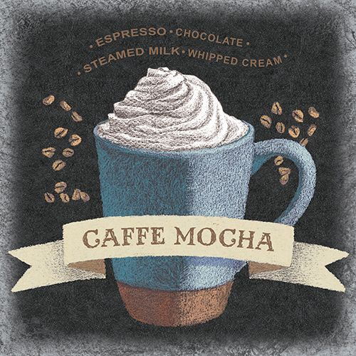 Caffe Mocha Square  Beth Grove Licensing Artist