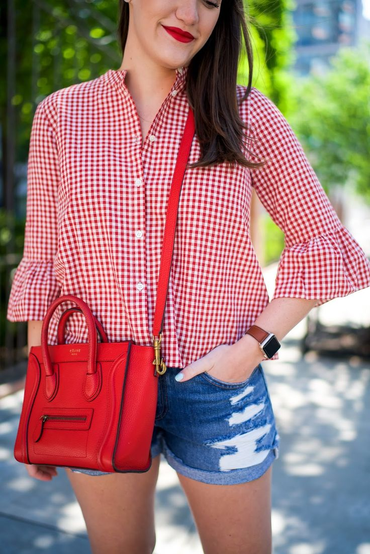 Red Gingham Blouse | Covering the Bases | Fashion and Travel Blog New York City